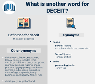 deceit, synonym deceit, another word for deceit, words like deceit, thesaurus deceit