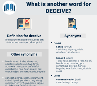 deceive, synonym deceive, another word for deceive, words like deceive, thesaurus deceive