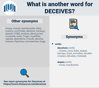 deceives, synonym deceives, another word for deceives, words like deceives, thesaurus deceives