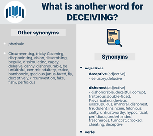 Deceiving, synonym Deceiving, another word for Deceiving, words like Deceiving, thesaurus Deceiving
