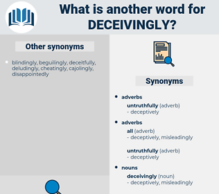 deceivingly, synonym deceivingly, another word for deceivingly, words like deceivingly, thesaurus deceivingly
