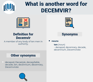 Decemvir, synonym Decemvir, another word for Decemvir, words like Decemvir, thesaurus Decemvir