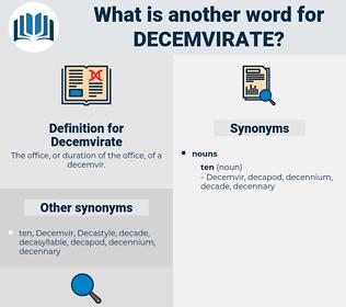 Decemvirate, synonym Decemvirate, another word for Decemvirate, words like Decemvirate, thesaurus Decemvirate