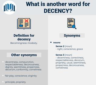 decency, synonym decency, another word for decency, words like decency, thesaurus decency
