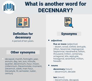 decennary, synonym decennary, another word for decennary, words like decennary, thesaurus decennary