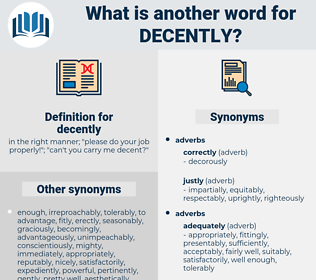 decently, synonym decently, another word for decently, words like decently, thesaurus decently