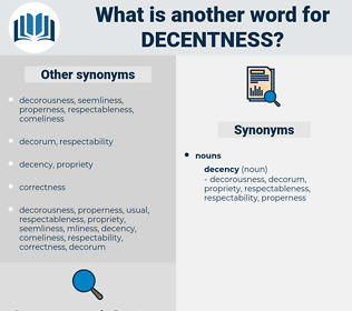 decentness, synonym decentness, another word for decentness, words like decentness, thesaurus decentness