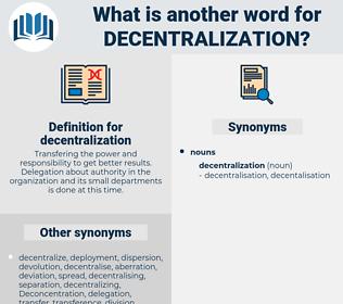 decentralization, synonym decentralization, another word for decentralization, words like decentralization, thesaurus decentralization