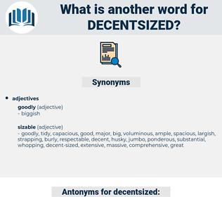 decentsized, synonym decentsized, another word for decentsized, words like decentsized, thesaurus decentsized