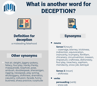 deception, synonym deception, another word for deception, words like deception, thesaurus deception