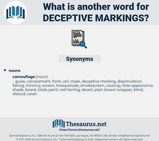 deceptive markings, synonym deceptive markings, another word for deceptive markings, words like deceptive markings, thesaurus deceptive markings