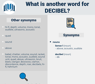 decibel, synonym decibel, another word for decibel, words like decibel, thesaurus decibel