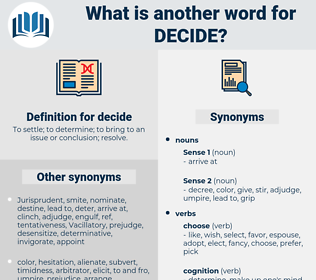 decide, synonym decide, another word for decide, words like decide, thesaurus decide