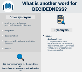 decidedness, synonym decidedness, another word for decidedness, words like decidedness, thesaurus decidedness
