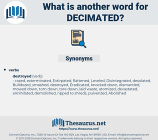 Decimated, synonym Decimated, another word for Decimated, words like Decimated, thesaurus Decimated