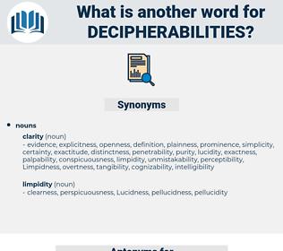decipherabilities, synonym decipherabilities, another word for decipherabilities, words like decipherabilities, thesaurus decipherabilities