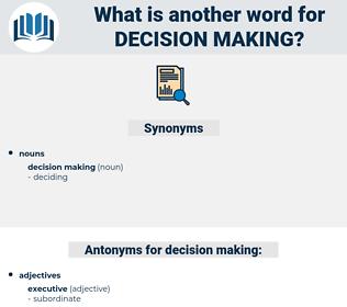 decision making, synonym decision making, another word for decision making, words like decision making, thesaurus decision making
