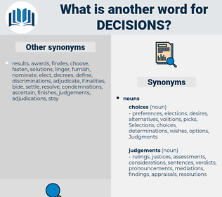 decisions, synonym decisions, another word for decisions, words like decisions, thesaurus decisions