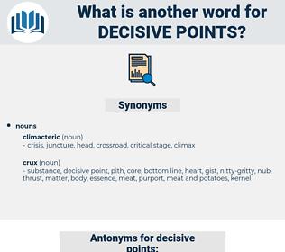 decisive points, synonym decisive points, another word for decisive points, words like decisive points, thesaurus decisive points