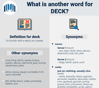 deck, synonym deck, another word for deck, words like deck, thesaurus deck