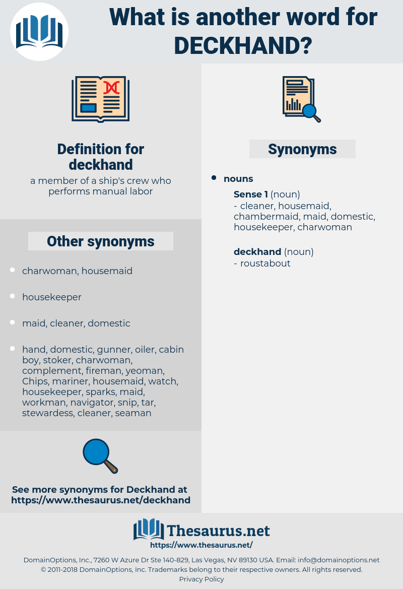 deckhand, synonym deckhand, another word for deckhand, words like deckhand, thesaurus deckhand