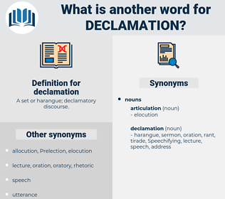 declamation, synonym declamation, another word for declamation, words like declamation, thesaurus declamation