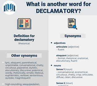 declamatory, synonym declamatory, another word for declamatory, words like declamatory, thesaurus declamatory
