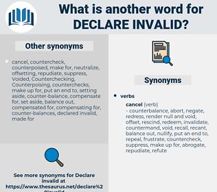 declare invalid, synonym declare invalid, another word for declare invalid, words like declare invalid, thesaurus declare invalid