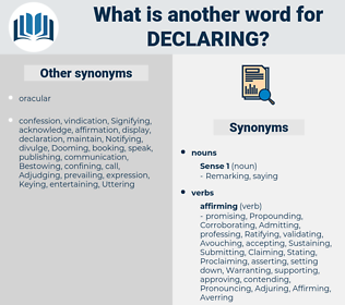 Declaring, synonym Declaring, another word for Declaring, words like Declaring, thesaurus Declaring