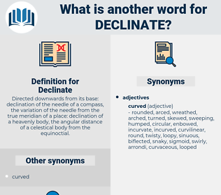 Declinate, synonym Declinate, another word for Declinate, words like Declinate, thesaurus Declinate