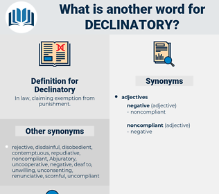 Declinatory, synonym Declinatory, another word for Declinatory, words like Declinatory, thesaurus Declinatory