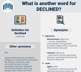 Declined, synonym Declined, another word for Declined, words like Declined, thesaurus Declined