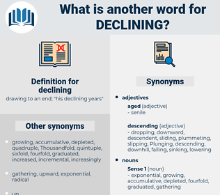 declining, synonym declining, another word for declining, words like declining, thesaurus declining