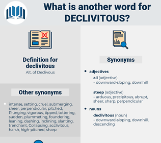 declivitous, synonym declivitous, another word for declivitous, words like declivitous, thesaurus declivitous
