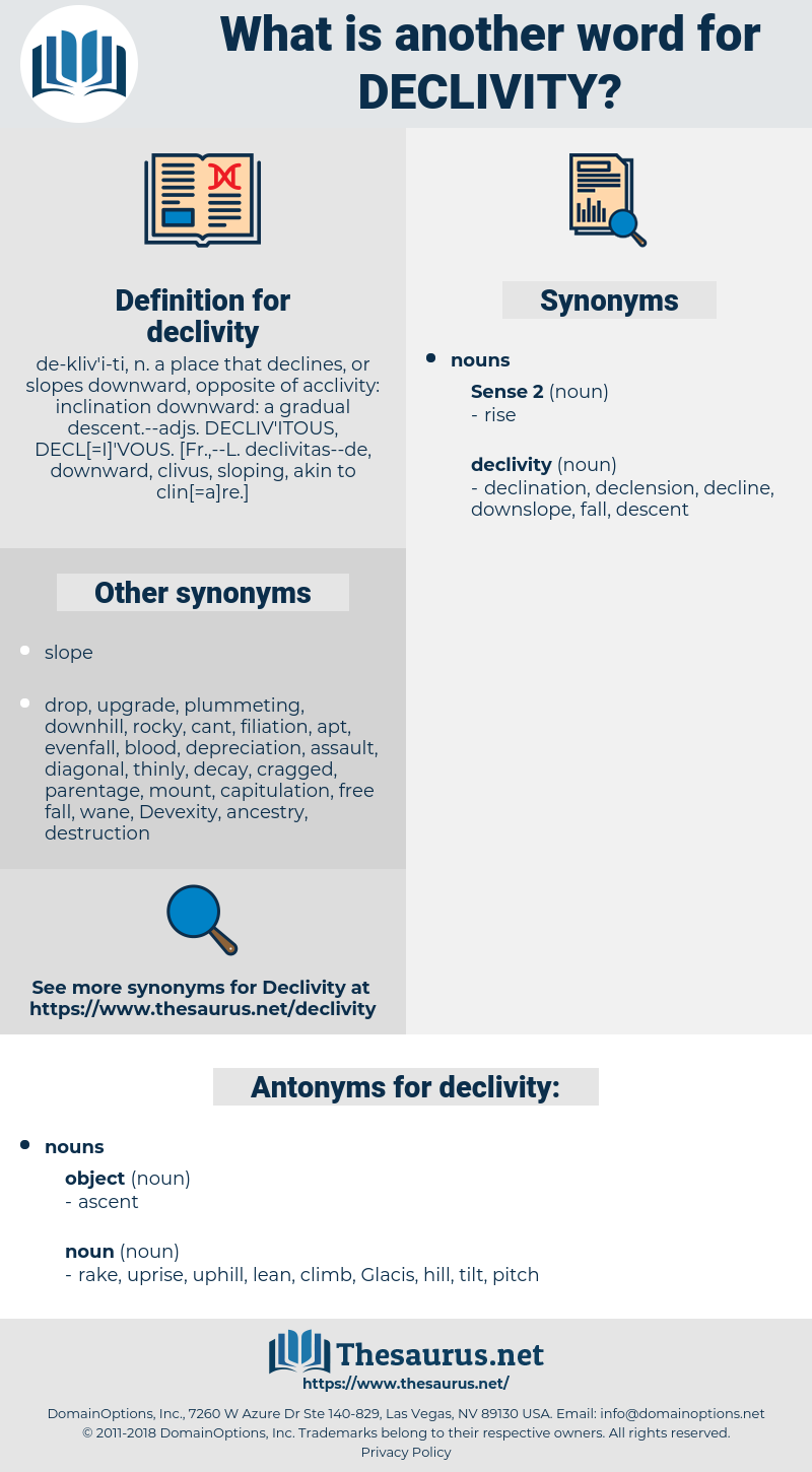 declivity, synonym declivity, another word for declivity, words like declivity, thesaurus declivity