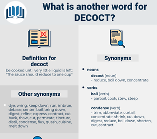 decoct, synonym decoct, another word for decoct, words like decoct, thesaurus decoct