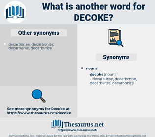 decoke, synonym decoke, another word for decoke, words like decoke, thesaurus decoke