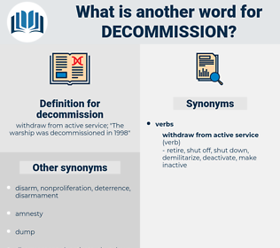 decommission, synonym decommission, another word for decommission, words like decommission, thesaurus decommission