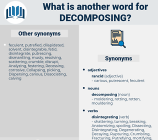 decomposing, synonym decomposing, another word for decomposing, words like decomposing, thesaurus decomposing