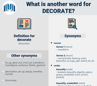 decorate, synonym decorate, another word for decorate, words like decorate, thesaurus decorate