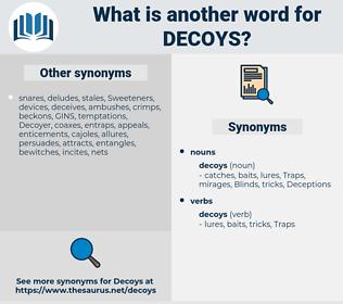 decoys, synonym decoys, another word for decoys, words like decoys, thesaurus decoys
