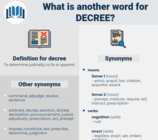 decree, synonym decree, another word for decree, words like decree, thesaurus decree