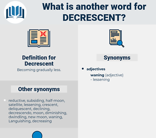 Decrescent, synonym Decrescent, another word for Decrescent, words like Decrescent, thesaurus Decrescent