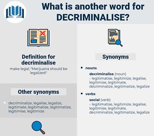 decriminalise, synonym decriminalise, another word for decriminalise, words like decriminalise, thesaurus decriminalise