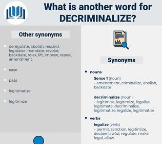 decriminalize, synonym decriminalize, another word for decriminalize, words like decriminalize, thesaurus decriminalize