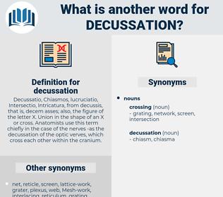 decussation, synonym decussation, another word for decussation, words like decussation, thesaurus decussation
