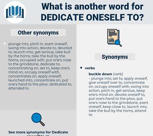 dedicate oneself to, synonym dedicate oneself to, another word for dedicate oneself to, words like dedicate oneself to, thesaurus dedicate oneself to
