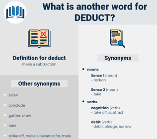 deduct, synonym deduct, another word for deduct, words like deduct, thesaurus deduct