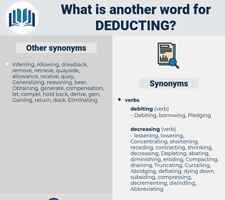 Deducting, synonym Deducting, another word for Deducting, words like Deducting, thesaurus Deducting