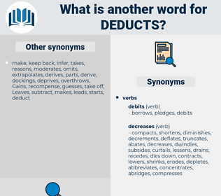deducts, synonym deducts, another word for deducts, words like deducts, thesaurus deducts